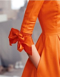 Orange Sleeve--Isaac Mizrahi