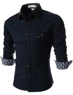 "The ""Hayward"" 2-Tone Long Sleeve Shirt – Tattee Boy Clothes"
