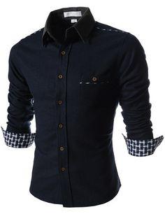 "The ""Hayward"" 2-Tone Long Sleeve Shirt – Tattee Boy Clothes"