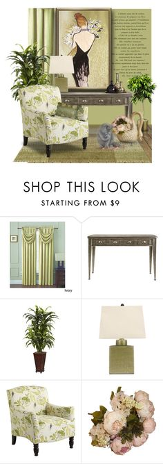 """""""Frankie Armchair"""" by signaturenails-dstanley ❤ liked on Polyvore featuring interior, interiors, interior design, home, home decor, interior decorating, Victoria Classics, Nearly Natural and Pier 1 Imports"""