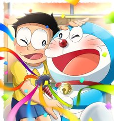 Happy Birthday Doraemon❤️❤️ by Doraemon Wallpapers, Cute Cartoon Wallpapers, Doremon Cartoon, Cartoon Characters, Disney Drawings, Cute Drawings, Kawaii Anime Girl, Anime Girls, Doraemon Stand By Me