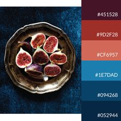 Soft + cold color palette | Fig is all you need | #figs #colorpalette #colorinspiration #colourlovers Colour Palettes, Figs, Color Inspiration, Color Schemes, Decor Ideas, Colours, Cold, Wedding, Color Pallets