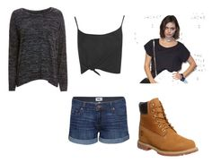 """""""Amitee #10"""" by ellebellehell ❤ liked on Polyvore featuring Paige Denim, rag & bone/JEAN, Boohoo, Timberland and Chanel"""