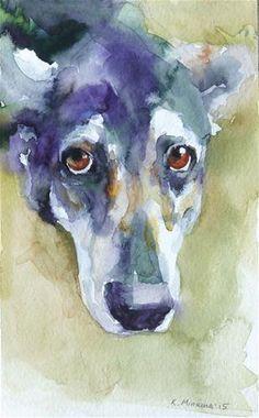 "Daily Paintworks - ""adopt96"" - Original Fine Art for Sale - © Katya Minkina"