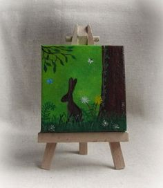 Miniature Acrylic Painting - 'Spring' For sale at: https://www.etsy.com/shop/ThePresents