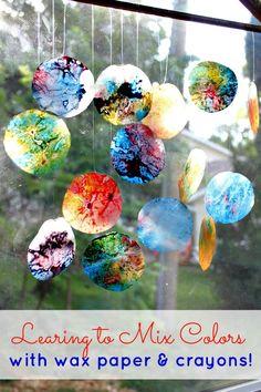 Wax Paper Crayon Melts {Think Outside The Toy Box} - View From The Fridge #ThinkOutsideTheToyBox