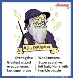 Albus Dumbledore - Dumbledore is the headmaster of Hogwarts School of Witchcraft and Wizardry and pretty much the coolest wizard around. In this first book of the series, we see him as a friendly, but distant authority figure.