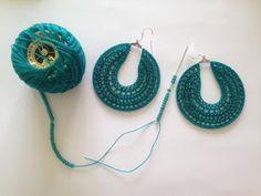 21 Ideas for crochet jewelry tutorial hoop earrings Crochet Earrings Pattern, Bead Crochet, Crochet Hooks, Crochet Patterns, Single Crochet Stitch, Double Crochet, Beading Needles, Earring Tutorial, Crochet Accessories
