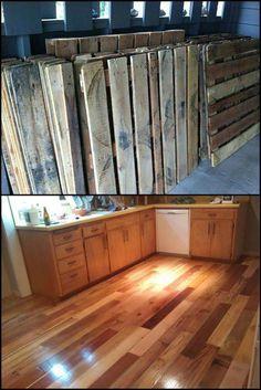 Pallet Diy Projects Palletfurnitureoutdoor Wood Floors Flooring Easy