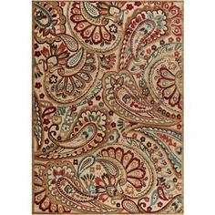 Paisley Charm Hand-Carved Rectangular Rugs - jcpenney - love it!  Laundry room?