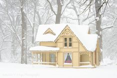 Yellow Cottage, Forever, Victorian Homes, Porch, Household, Cabin, Mansions, House Styles, Building