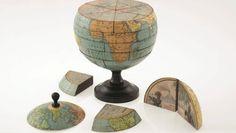 Da standen sie schon in jedem Klassenzimmer: Globus-Puzzle anno 1866