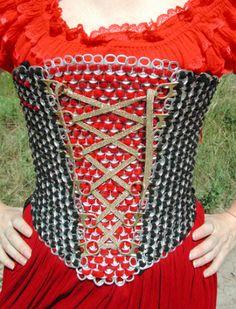 Beer tabs corset. Amazing!