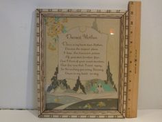 Vintage Dearest Mother Poem Blessing framed by Smallthingsforyou, $16.00