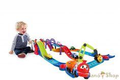 Oball Go Grippers játék autó pálya vonattal - LEGO, Fisher P Train Car, Train Tracks, Toys Uk, Santa Claus Is Coming To Town, Jouer, Pre School, 18 Months, Lego, Product Launch