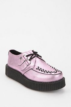 UO T.U.K. Metallic Lavender Creepers