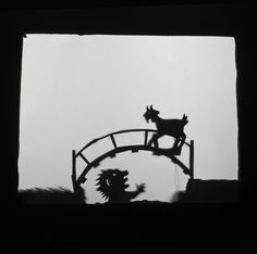 shadow puppet pattern for 3 billy goats gruff