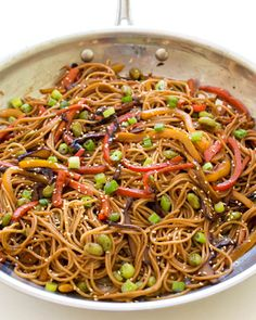 14. Rainbow Vegetable Noodle Stir-Fry #beginner #dinner #recipes…
