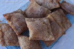 Dessert Wontons - Fill wonton wrappers with filling, bake/fry, and coat with powdered sugar or cinnamon sugar (cream cheese and jam, cream cheese and apple pie, pb and choc, pbj, etc)
