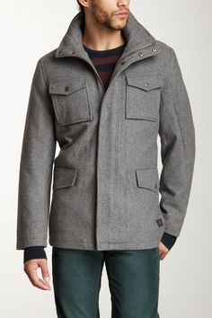 Melton 4 Pocket Peacoat | Ben Sherman >> My husband would look quite dapper in this jacket!