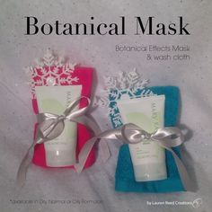 Botanical Mask Bundle unique to the seasons/holidays with handmade crochet washcloth $15 http://www.marykay.com/theresacavada