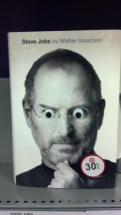Steve Jobs googly eyes