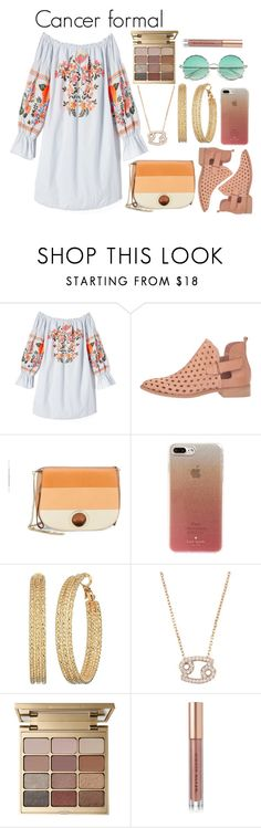 """""""Cancer formal"""" by lottie2004 ❤ liked on Polyvore featuring Free People, Coolway, Halston Heritage, Kate Spade, GUESS, Latelita, Stila, Kevyn Aucoin, boho and zodiac"""