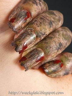Zombie Nails for Halloween