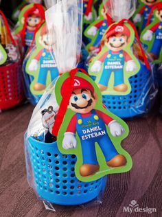 Canastitas para cumpeaños – Mario Bros Super Mario Bros, Super Mario Birthday, Mario Birthday Party, Super Mario Party, Boy Birthday Parties, Mario Y Luigi, Mario Kart, Unique Birthday Party Ideas, Race Car Party