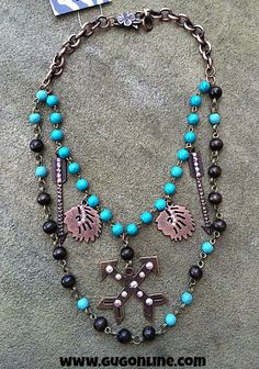 Copper and Turquoise Indian Chief Charm Necklace $39.95 www.gugonline.com