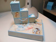 Baby Block Card by figaro - Cards and Paper Crafts at Splitcoaststampers