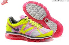Latest Listing Cheap Womens Nike Air Max 2012 White Hot Pink Hot Lime Dark Grey Shoes Fashion Shoes Shop