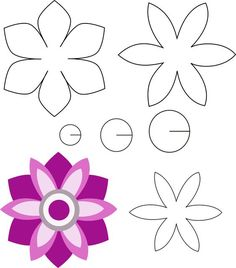 felt flower that is easy to make! Dyi Flowers, Felt Flowers Patterns, Giant Paper Flowers, Fabric Flowers, Leaf Template, Flower Template, Felt Crafts, Paper Crafts, Art Drawings For Kids
