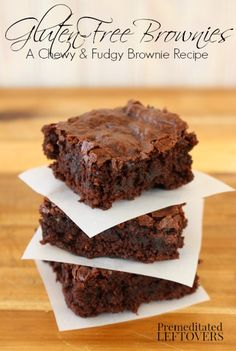 The Best Gluten-Free Brownies EVER! - A moist, chewy, and fudgy gluten-free brownie recipe. This brownie recipe is also dairy-free and soy-free.