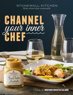 Our award-winning Basil Pesto Mustard is more than just an incredible topping for hot dogs. Made with smooth Dijon mustard, savory roasted garlic, aged parmesan cheese and (of course) plenty of basil, it's guaranteed to open delicious doors of opportunity in your kitchen—like our amazing mustard crusted salmon recipe! Click to start cooking…