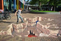 #graffitinetwerk 3D streetpainting Jurassic World graffitinetwerk  #3dstreetart #3Dstreetpainting #Graffiti #grondschildering #straatkunst #Straatschildering #Street-art #streetpaint #Streetpainting