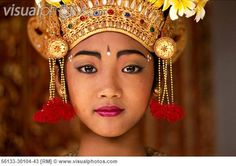 Indonesia, Bali, Legong Dancer, close up of her face B1751 [56133 ...