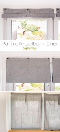 DIY Anleitung für super einfache, selbst genähte Raffrollos für praktisch jedes Fenster // Leelah loves