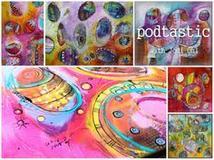 Self Study: Pod-Tastic Online Workshop E-Course - Abstract Painting Class using Acrylic Paint by Jodi Ohl Etsy App, Dates, Painting Courses, Creative Workshop, Using Acrylic Paint, Color Studies, New Things To Learn, Medium Art, Mixed Media Art
