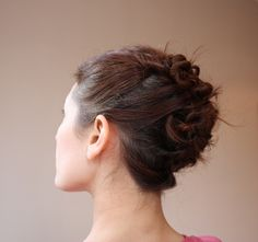 Hair twists updo