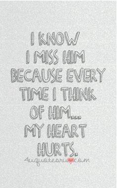 I know I miss him..