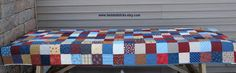 Patchwork Picnic Tablecloth Quilted Tablecloth by twistedsticks,