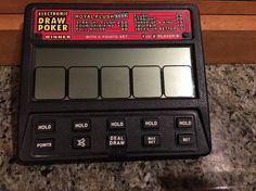 Radio Shack Handheld Electronic DRAW POKER  #60-2453 - 1 or 2-Players Big Screen #RadioShack