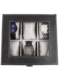 Personalized Leatherette Watch Box Style 4027