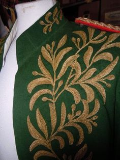 Detalle casaca militar s. XIX