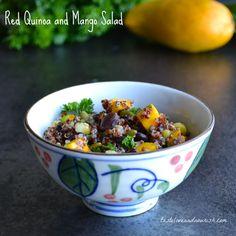Red Quinoa and Mango Salad