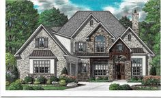 Darcie – Stephen Davis Home Designs Two Story House Plans, Best House Plans, House Floor Plans, French Country House Plans, European House Plans, Dream Home Design, House Design, Open Concept Floor Plans, Craftsman House Plans