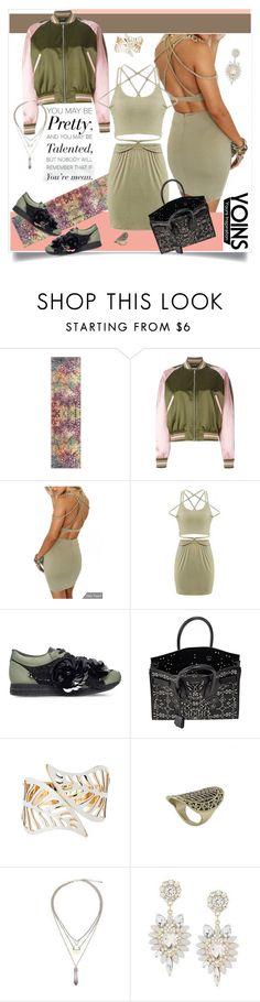 """Yoins - Cross Back Dress"" by carola-corana ❤ liked on Polyvore featuring Safavieh, Alexander McQueen, Kurt Geiger, Yves Saint Laurent and yoins"