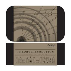The Theory of Evolution, skincare by Aesop
