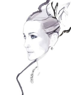the style saloniste: Portraits of Beauty: The Art of David Downton
